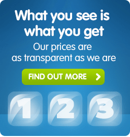 What you see is what you get. Our prices are transparent as we are